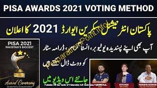 Pisa Award 2021 Vote Online Pakistan - Pisa Award Votin